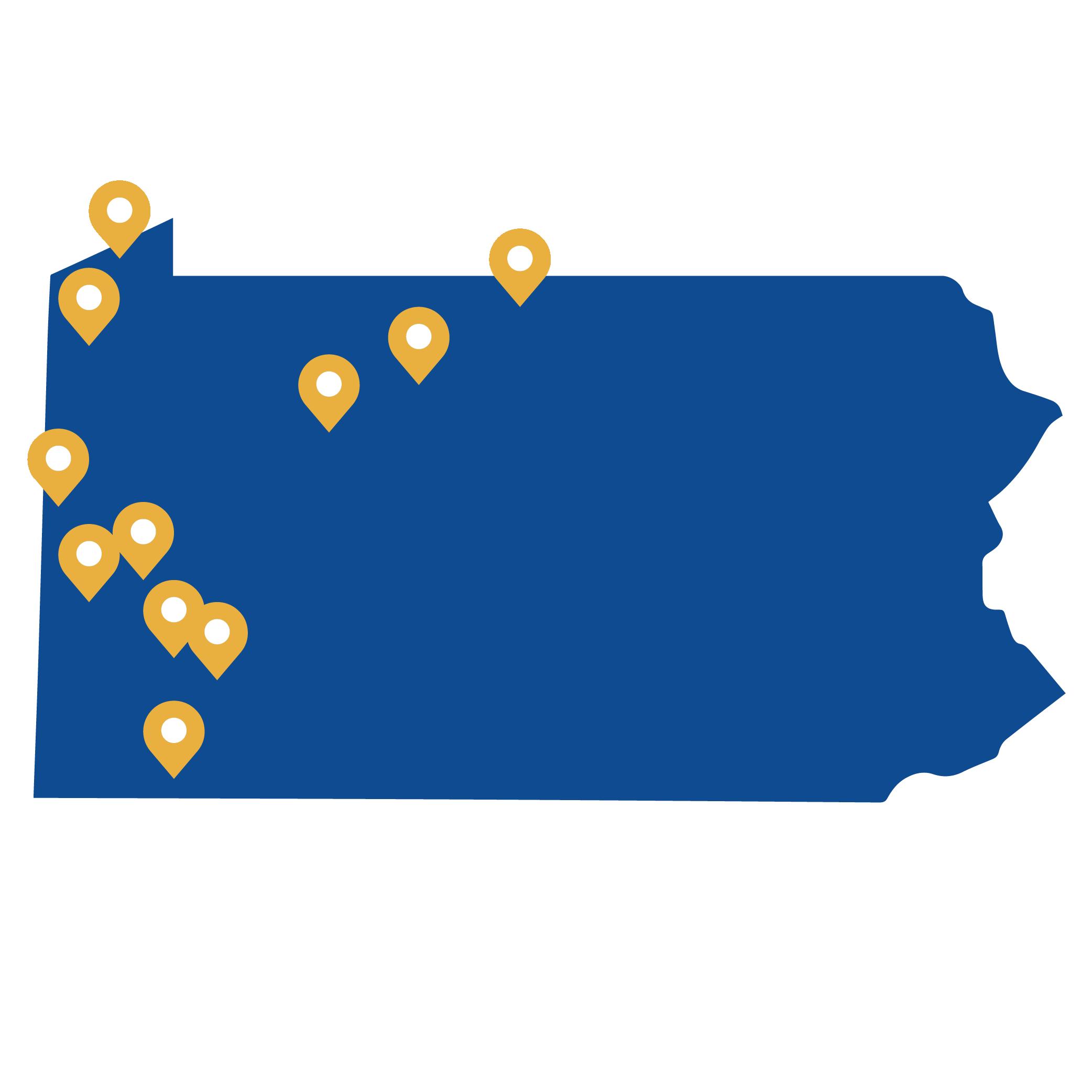 PA Service Area Map